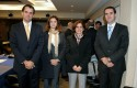 Rodrigo Castro, Erica Salvaj, Claudia Blanco y Javier Vega