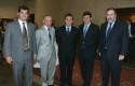 Pelayo Covarrubias, Fernando Cañas, Juan Pablo Swett, Fernando de Solminihac y Cristián Montes