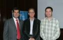 Pelayo Covarrubias, Morris Teubal y Francisco Santibáñez