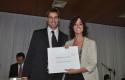 El vicerrector de Innovación y Desarrollo Daniel Contesse y Magdalena Conde