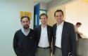 Juan Pablo Couyoumdjian, Axel Kaiser y Rodrigo Castro