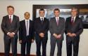 Federico Valdés, Samiran Chakraborty, Mario Marcel, Rodrigo Vergara y Cirilo Córdova