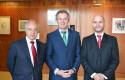 Hernán Cheyre, Vicepresidente Ejecutivo de Corfo, Federico Valdés, Rector UDD y José Ernesto Amorós, Director GEM Chile