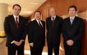 Rodrigo Castro, Rolando Santos, Dirk Leisewitz y Francisco Santibáñez