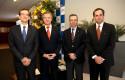 Sr. Marc Giacomini, Sr. Federico Valdés, Sr. Tomás Flores y Sr. Rodrigo Castro