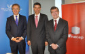 Federico Valdés, rector UDD; Gonzalo Vargas, rector INACAP y Joaquín Lavín, decano FEN