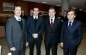 Lucas Palacios, Matías Lira, Joaquín Lavín y Sergio Hernández