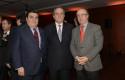 Alberto Salas, Andrés Santa Cruz y Cristián Larroulet