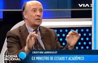 C. Larroulet en Cadena Nacional