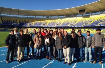 Alumnos de ICO UDD visitan el nuevo estadio regional de Concepción